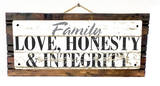 Family - Love, Honesty, Integrity Vintage