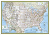 National Geographic - United States Classic Map Laminated Poster