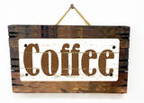 Coffee Vintage Wood Sign