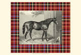 Equestrian Plaid III Art Print