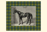 Equestrian Plaid II Art Print