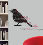 Blackbird Beatles Quote Peel & Stick Wall Decals