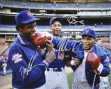 Dwight Gooden/Darryl Strawberry/Mike Tyson Autographed Photograph