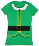 Juniors: Elf Costume Tee