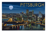 Pittsburgh, Pennsylvania - Skyline at Night