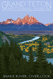 Grand Teton National Park - Snake River Overlook Art Print