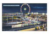 Wildwood, New Jersey - View of Playland at Night