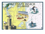 Bethany Beach, Delaware - Nautical Chart
