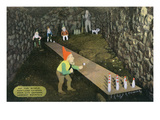 Lookout Mountain, TN - Fairyland Caverns, Interior View of Rip Van Winkle, Gnomes Bowling