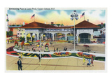 Coney Island, New York - Luna Park Swimming Pool Scene