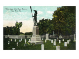 Key West, Florida - Cemetery with Uss Maine Sailors Monument