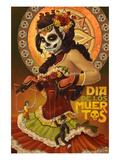 Dia De Los Muertos Marionettes Art Print