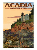 Acadia National Park, Maine - Bass Harbor Lighthouse Art Print