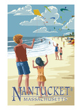 Nantucket, Massachusetts - Kite Flyers