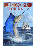 Buy Hutchinson Island , Florida - Sailfish Fishing Scene at AllPosters.com