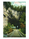 Bristol, Virginia - Train Tracks Through a Natural Rock Tunnel