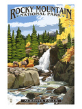 Alberta Falls - Rocky Mountain National Park Art Print