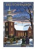 Williamsburg, Virginia - Bruton Parish in Snow