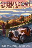 Shenandoah National Park, Virginia - Skyline Drive Art Print