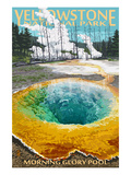 Morning Glory Pool - Yellowstone National Park Art Print