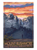 Mount Rushmore National Memorial, South Dakota - Sunset View