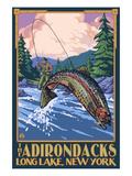 Buy The Adirondacks - Long Lake, New York State - Fly Fishing at AllPosters.com