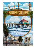 Huntington Beach, California - Montage Scenes