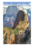 Zion National Park - Angels Landing Art Print