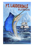 Buy Ft. Lauderdale, Florida - Sailfish Scene at AllPosters.com