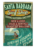 Santa Barbara, California - Surf Shop
