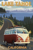 Lake Tahoe, California - VW Coastal Drive Art Print