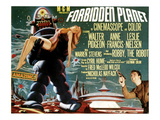 Forbidden Planet, Left: Robby the Robot, Lower Right: Leslie Nielsen, 1956