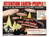 Earth Vs. the Flying Saucers, Right: Joan Taylor, Hugh Marlowe, Donald Curtis, 1956