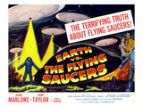 Earth Vs. the Flying Saucers, Far Right From Left: Joan Taylor, Hugh Marlowe, 1956