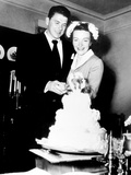 Ronald Reagan, Nancy Reagan Cutting Their Wedding Cake, March 5, 1952