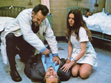 The Hospital, Kneeling, George C. Scott, Diana Rigg, 1971