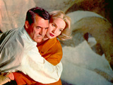 North By Northwest, Cary Grant, Eva Marie Saint, 1959, Clinging