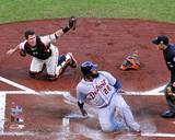 Buster Posey tags out Prince Fielder Game 2 of the 2012 MLB World Series Action