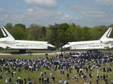 Space Shuttles Enterprise(Left) and Discovery Nose-To-Nose