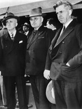 Powerful FDR Advisor James Byrnes, Vice Pres Harry Truman and Former FDR Vice Pres Henry Wallace