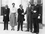 Pres Franklin and Eleanor Roosevelt and Mexican Minister of Finance, Alberto Pani