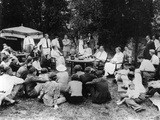 President Franklin Roosevelt Hosts a Picnic for their Friends and Neighbors at Val-Kil Cottage