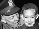 General Dwight Eisenhower with His Three Year Old Grandson, Dwight David Eisenhower II, Nov 5, 1951