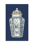 Asian Urn in Blue and White I