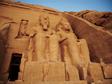 Statues, the Greater Temple, Abu Simbel, Egypt