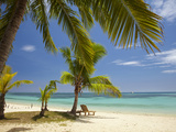 Beach and Lounger, Plantation Island Resort, Malolo Lailai Island, Mamanuca Islands, Fiji