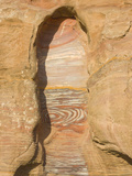 Rock Texture of Cave Wall, Petra, Jordan