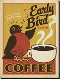 Early Bird Coffee Stretched Canvas Print