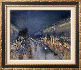 Pissarro: Paris at Night Framed Canvas Print
