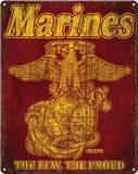 USMC Retro Steel Sign